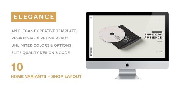 ELEGANCE -  A Simple & Elegant Creative Portfolio