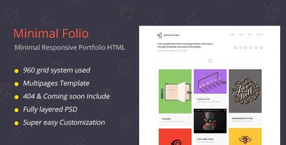 Minimal Folio - Responsive Portfolio Template
