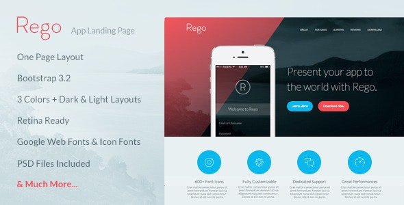 Rego - App Landing Page - Apps Technology