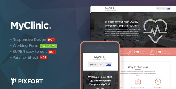 MyClinic - Medical HTML Landing Page - Health & Beauty Retail