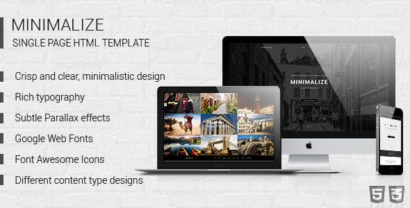 Minimalize   Multipurpose OnePage HTML Template
