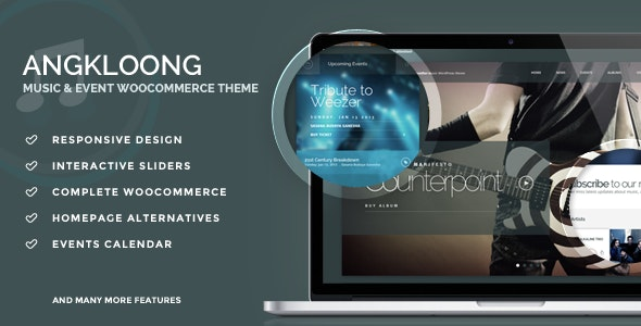 Angkloong - Events & Music WooCommerce Theme - Entertainment WordPress