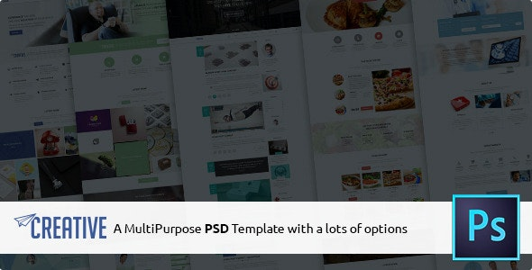 Creative - Multipurpose PSD Template - Corporate Photoshop