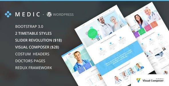 Medic - Medical, Health and Hospital WP Theme