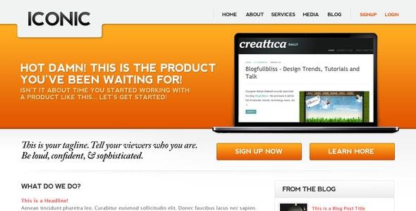 Iconic, a bold new professional web layout. - Portfolio Creative