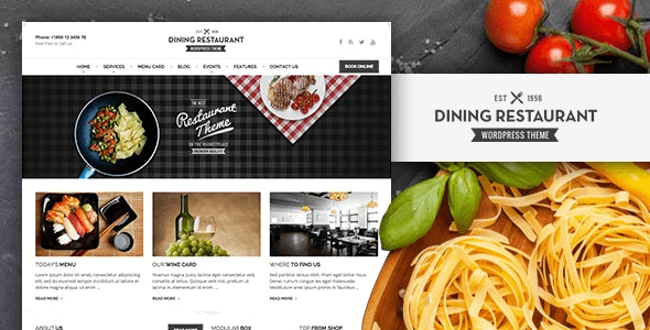 Dining Restaurant - WordPress Theme For Chefs - Food Retail