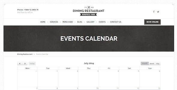 Dining Restaurant - WordPress Theme For Chefs