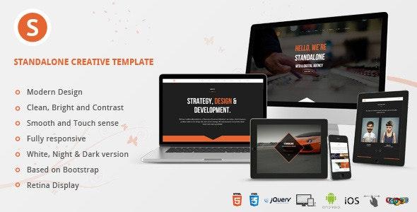 Standalone Creative Portfolio HTML Template - Creative Site Templates