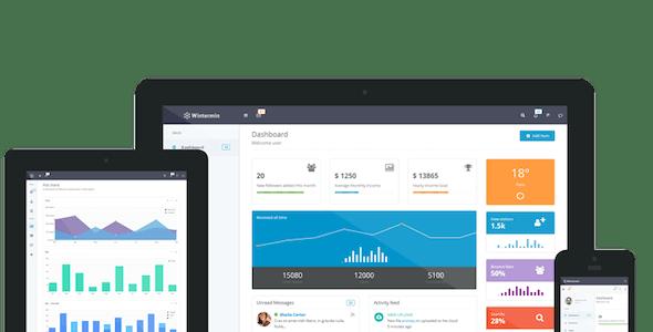 Wintermin - Bootstrap Admin Theme