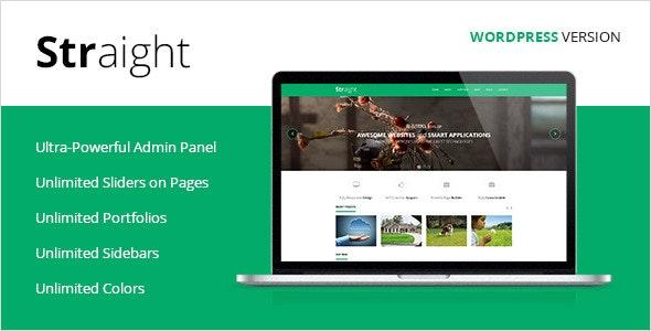 Straight - Multipurpose WordPress Theme - Creative WordPress