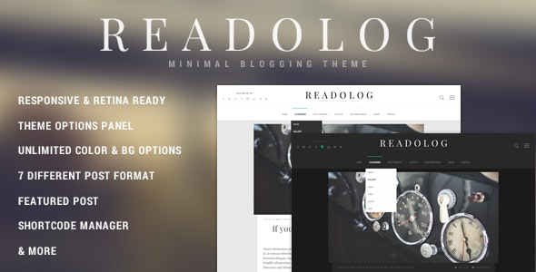 Readolog - Minimal Blogging Theme - Personal Blog / Magazine