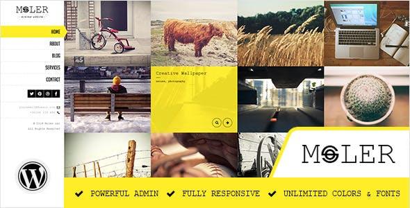 Moler - Full Screen WordPress Portfolio