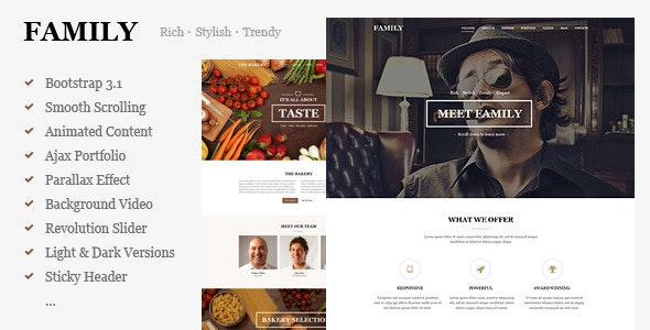 Family - MultiPurpose Responsive One Page Template - Creative Site Templates