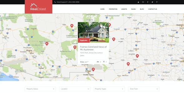 RealEstast - Real Estate PSD Template