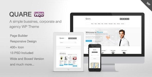 Quare - Responsive Multi-Purpose Theme - Business Corporate