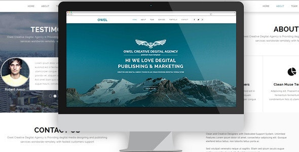 Owel - Creative Multipurpose Muse Template - Creative Muse Templates