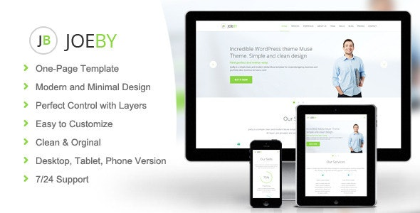 Joeby - Business Muse Template - Corporate Muse Templates