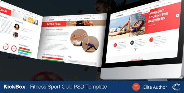 KickBox Fitness Sport Events PSD - Health & Beauty Retail
