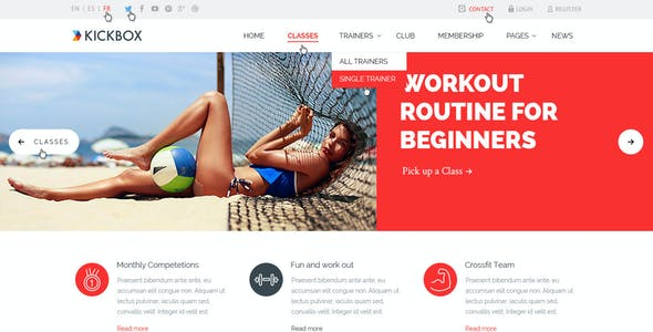 KickBox Fitness Sport Events PSD