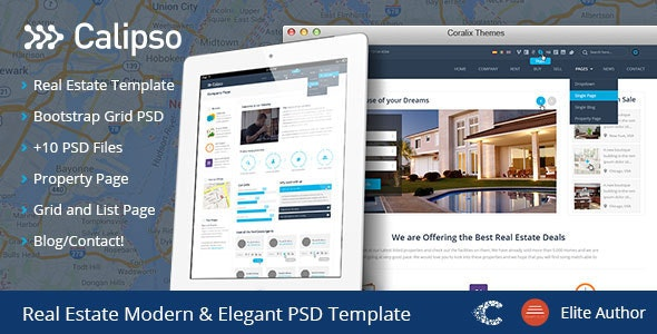 Calipso Real Estate Buy Rent Sell PSD - Retail Photoshop