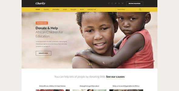 Charity PSD Theme