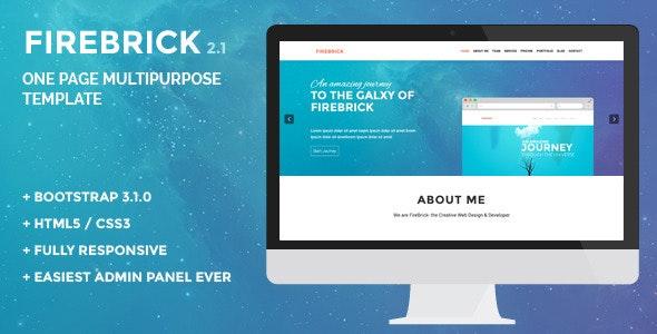 Firebrick - Multipurpose One Page Wordpress Theme - Corporate WordPress