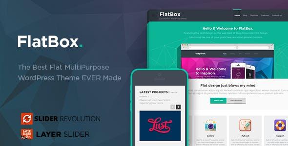 FlatBox - Flat Multipurpose WordPress Theme