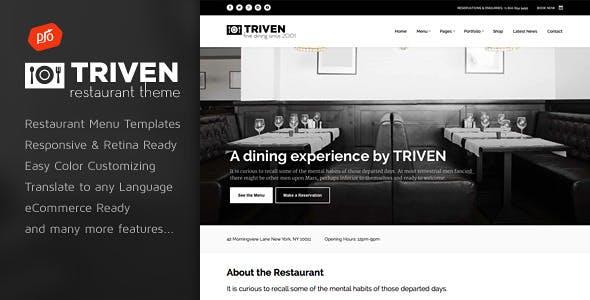 Triven - Restaurant & Winery Theme