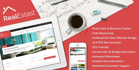 Real Estast - Real Estate & Business Drupal Theme - Business Corporate