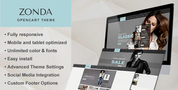 Zonda - Premium Responsive Opencart Theme - Fashion OpenCart