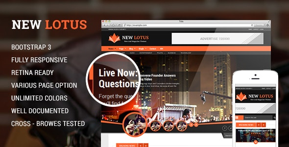 New Lotus Magazine HTML5 template - Corporate Site Templates