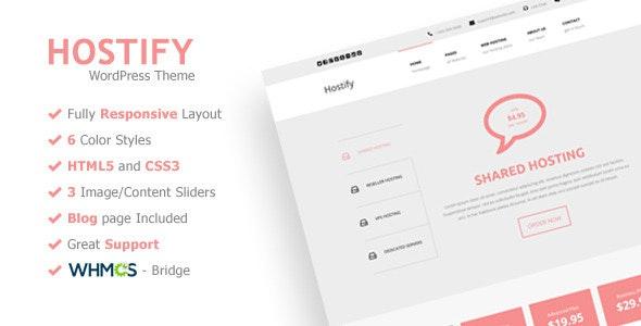 Hostify - Responsive WordPress Hosting Theme - Hosting Technology