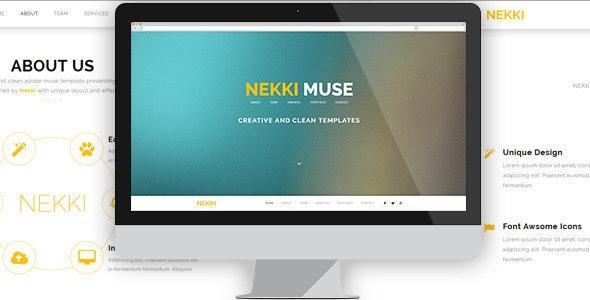 Nekki - Creative Muse Template - Creative Muse Templates