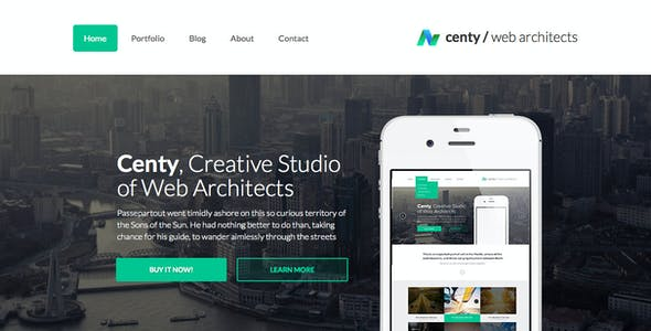 Centy - Retina Ready Responsive WordPress Theme