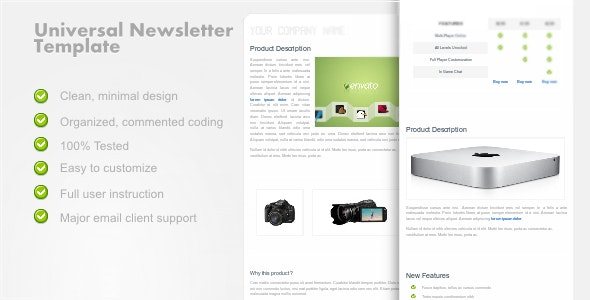 UniversalNewsletter - Clean Email Template - Email Templates Marketing