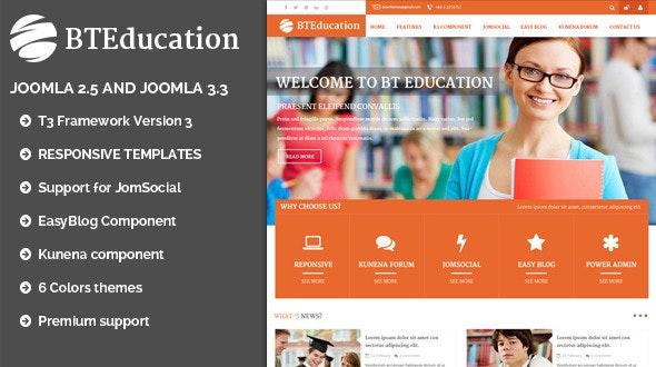 BT Education | Responsive template for Joomla - Corporate Joomla