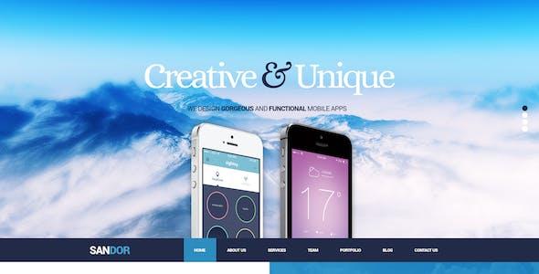 Sandor - Creative One Page PSD Theme