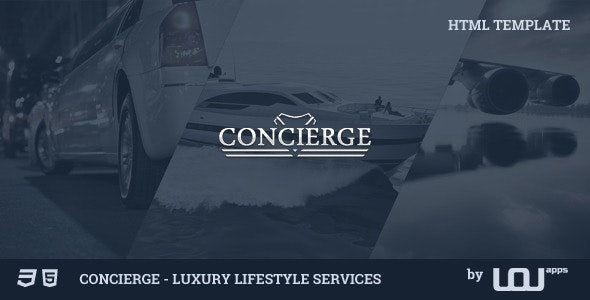 Concierge - Luxury Lifestyle Services HTML - Business Corporate
