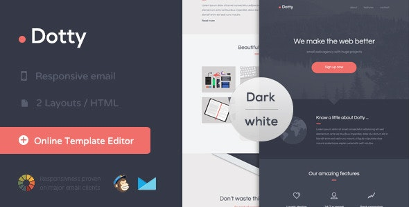 Dotty - Responsive Email + Themebuilder Access - Newsletters Email Templates