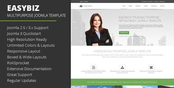 Easybiz - Multipurpose Joomla Template