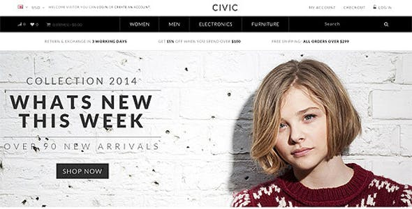 Civic - Watch Store Responsive OpenCart Theme