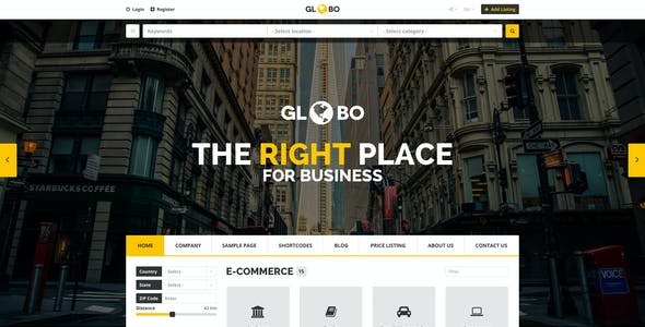 Globo - Directory PSD Template