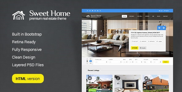 Sweethome - Real Estate HTML Template - Business Corporate