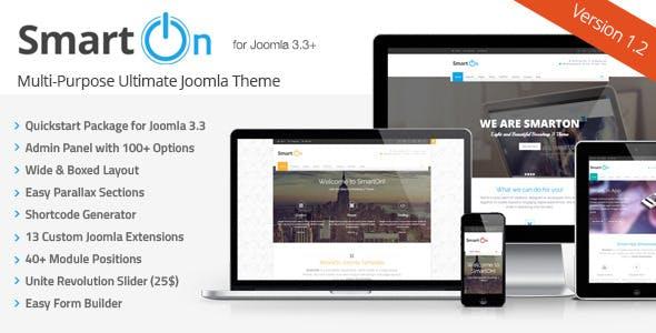 SmartOn - Multi-Purpose Ultimate Joomla Theme