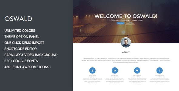Oswald - Creative WordPress Portfolio Theme - Portfolio Creative