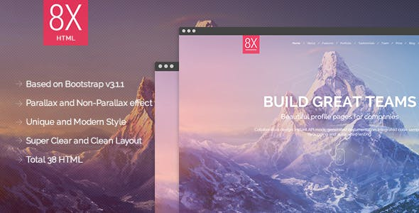 8X Supertheme - Multipurpose HTML Template