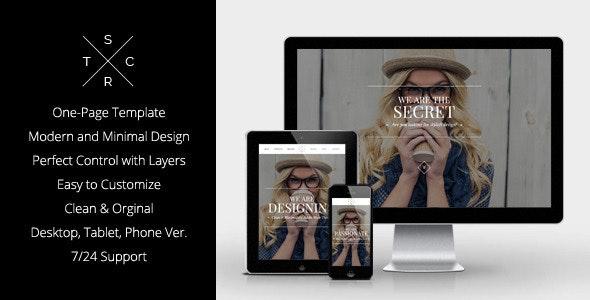 Secret - Elegant Muse Template - Corporate Muse Templates