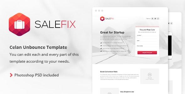 SaleFix - Unbounce Template - Unbounce Landing Pages Marketing