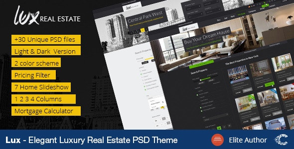 Luxury Real Estate | PSD Template - Business Corporate
