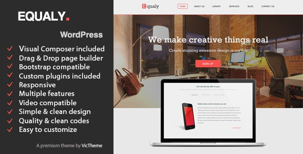 Equaly - Professional Business WordPress Theme - Business Corporate